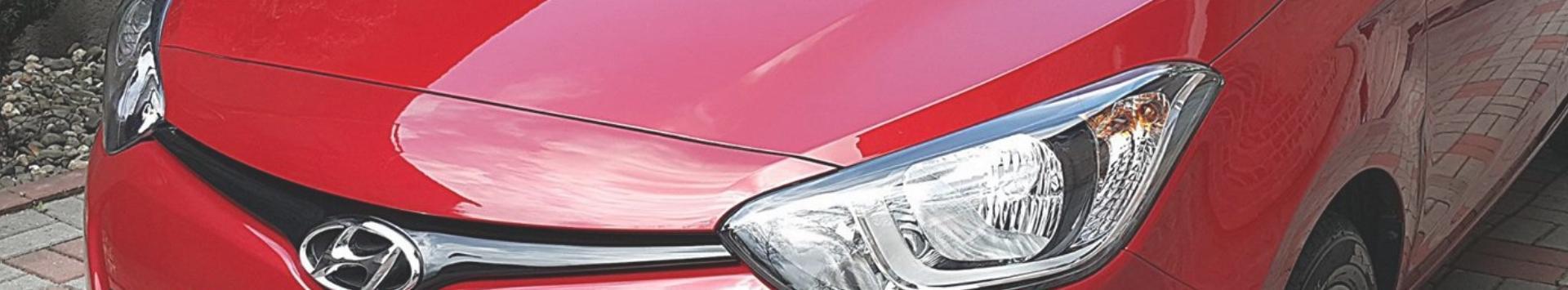 czerwony przód samochodu banner